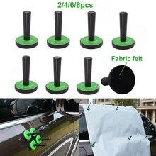 EHDIS – Film vinylique en Fiber de carbone, 2/4/6/8 pièces, emballage en vinyle, outil de fixation, teinte de fenêtre, autocollant, fixateur de style automobile, support magnétique