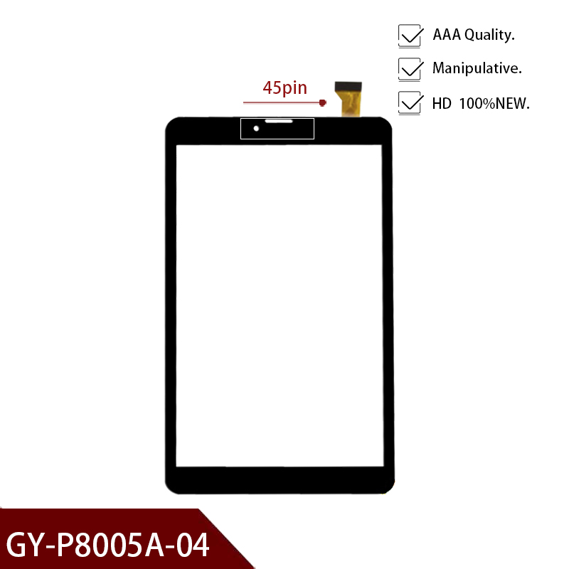 45pin New For 8'' Inch GY-P8005A-04 Tablet External Capacitance Touch Screen MID Outer Digitizer Glass Panel Repair Multitouch