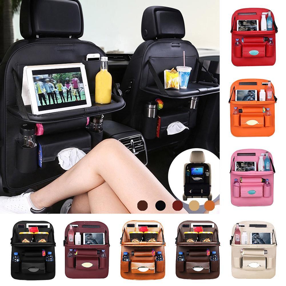 Portable Durable Car Seat Back Hanging Organizer Foldable Multi-Pocket Storage Bag Shelf Holder