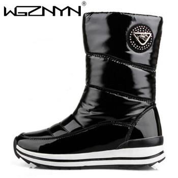 Gorąca sprzedaż nowe buty ze skórki cielęcej białe buty damskie śniegowe buty kobiece buty zimowe damskie buty zimowe damskie buty wodoodporne tanie i dobre opinie WGZNYN Klinowe BUTY NA ŚNIEG CN (pochodzenie) Połowy łydki RZYM Stałe Dla osób dorosłych Krótki plusz Nietekstylne