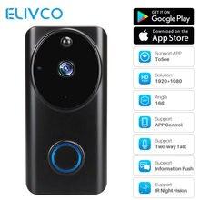 Умный Wi-Fi видео дверной звонок 1080P дверной Звонок камера двусторонняя связь движения PIR домашний монитор безопасности дистанционная запись видеодомофон