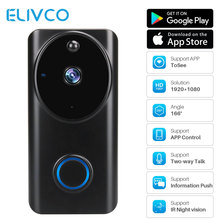 Smart WiFi Video Doorbell 1080P Door Bell Camera Two-way Talk PIR Motion Home Security Monitor Remote Recording Video Intercom cheap Elivco Wireless TELEPHONE CMOS None Color 75*40*143mm EU Plug US Plug AU Plug UK Plug 18650 battery One to Two video doorphone