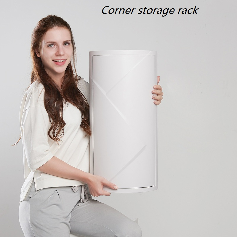 Super Large Capacity Bathroom Revolving Shelf Floor Mounted Wall Corner Storage Rack Toilet Washing Table Storage Cabinet