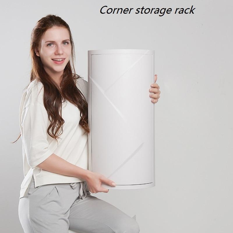 Super Large Capacity Bathroom Revolving Shelf Floor Mounted Wall Corner Storage Rack Toilet Washing Table Storage Cabinet