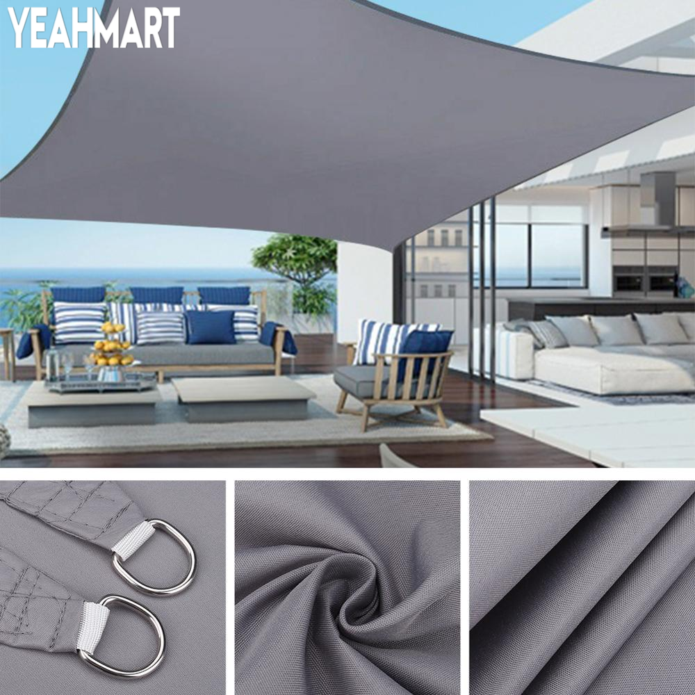 Shade Sail Canopy Awning SUN-SHELTER Garden-Patio-Pool Waterproof Outdoor Protection