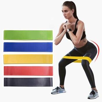 Bandas De Resistencia De látex para gimnasio Bandas elásticas De goma para Fitness, entrenamiento elástico
