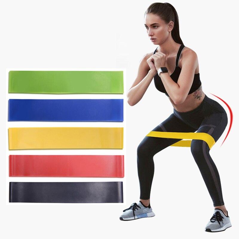 Elástico de borracha para resistência em látex, faixas de resistência para treino fitness