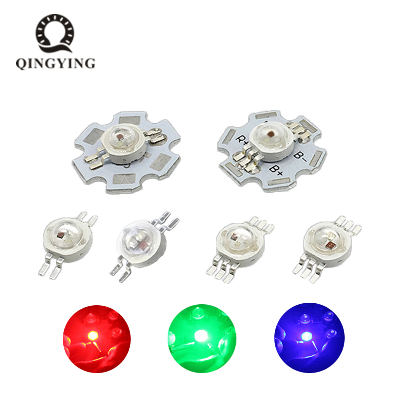5pcs-20pcs 1W 3W LED RGB High Power LED Lamp Bulb 4pin 6pin 30mil 45mil Red Green Blue Chip Stage Lamp Chips Excellent Quality