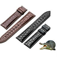 20mm 21mm 22mm Watchband Original Genuine Crocodile Leather Watch Band Full Grain Alligator Leather Replacement Watch Strap