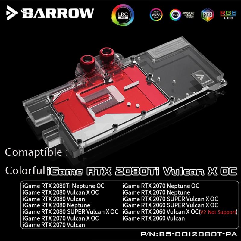 Barrow Gpu Water Block Fit Colorful Igame Rtx 2080ti 2080 2070