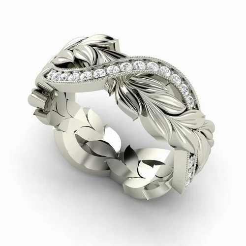 נוצת 100% 925 סטרלינג כסף חתונת טבעת יהלום לנשים יוקרה לבן טופז חן Bizuteria Anillos S925 רסיס טבעות