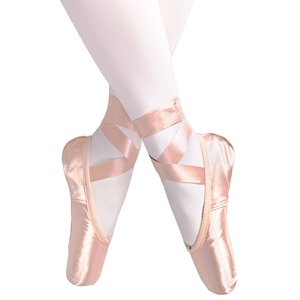 yukigaga Professional Ballet Pointe Shoes Ladies Dance shoes with Ribbons for women girls child satin Ballet Shoes