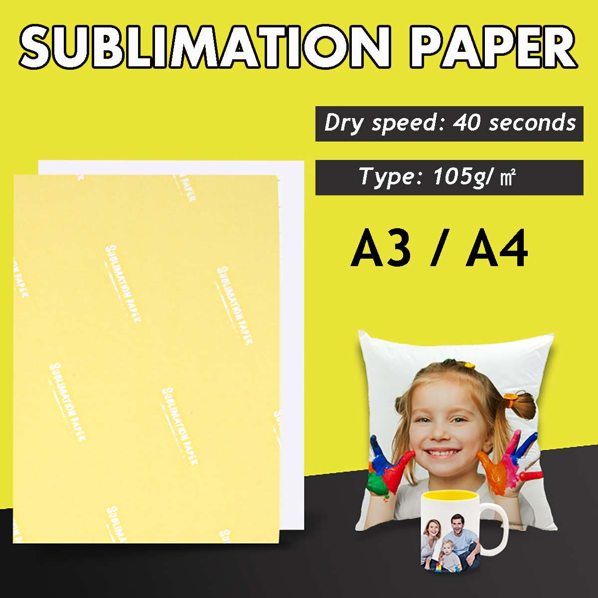 100 Sheets Dye Sublimation Paper A3/A4 Heat Transfer Paper For Inkjet T-Shirt Mug Cushion Fabrics Printing Photo Transfer Paper