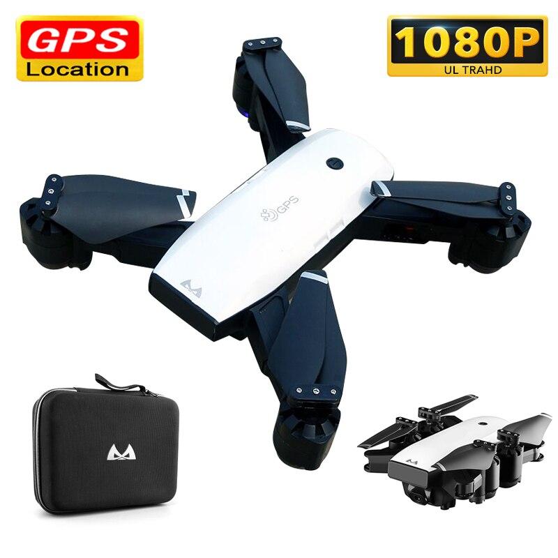S20 Corrida Dron com Câmera HD 1080P WI-FI FPV RC Helicóptero Zangão Profissional Follow Me GPS Quadcopter Dobrável Selfie brinquedos RTF