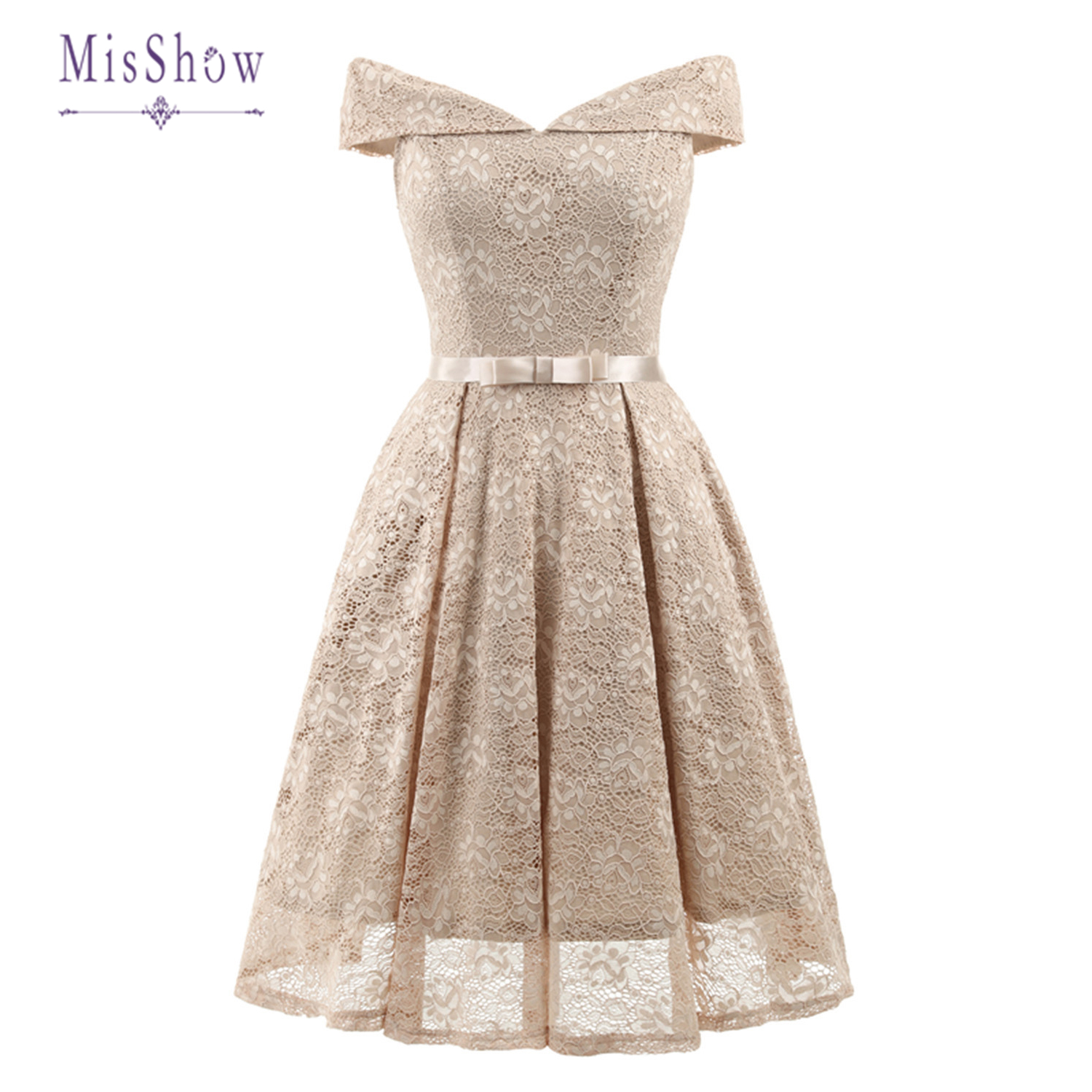 In Stock New Cocktail Dresses Floral Lace Retro Robe Vintage Rockabilly Plus Size Party Dress Prom Homecoming Dresses 2020