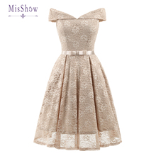 In Stock New Cocktail Dresses Floral Lace Retro Robe Vintage Rockabilly Plus Size Party Dress Prom Homecoming Dresses 2020 anni coco women s 1950s vintage plaid dresses gingham rockabilly dress