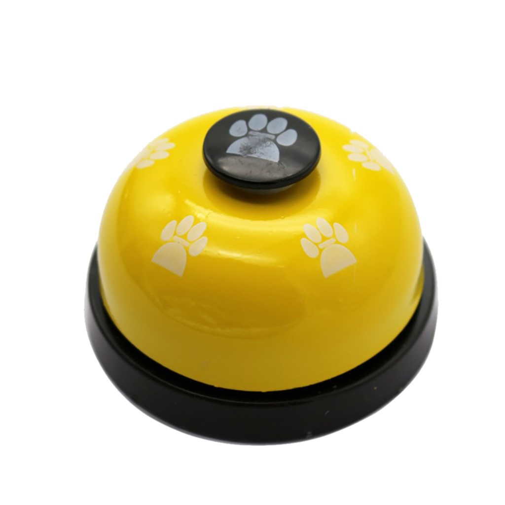 Transer 1pc Pet Dog Traning Supply Pet Feet Print Metal Bell Dog Toys Interactive Pet Toy Drop Shipping 207-1