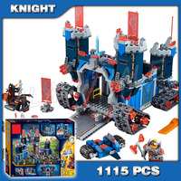 New Knights The Fortrex Model Building Blocks Children Toys Bricks Hot Sale Nexus Compatible With 1115pcs 10490