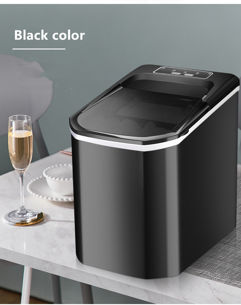 SUSWEETLIFE 15KG Portable Automatic Ice Maker, Household Bullet Round Ice Make Machine For Family, Bar,coffee Shop EU/US/UK Plug