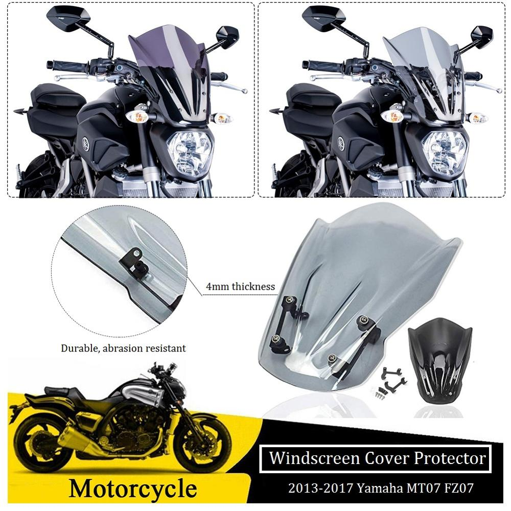 UltraSupplier Aluminum Windscreen Windshield Mount for 2015-2017 Yamaha FZ MT 07 FZ07 MT07