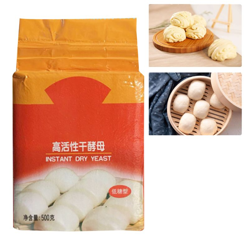 500g Highly Active Instant Dry Yeast Powder High Glucose Tolerance Kitchen Buns Bread Baking Supplies