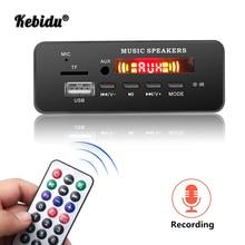 Kebidu Wireless MP3 WMA Decoder Board Remote Control Player 12V Bluetooth 5.0 USB FM AUX TF SD Card Module Car Radio MP3 Speaker