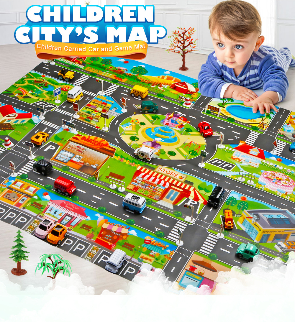 Hcbbe7836293e4ccf8a300299709454a9Y Large City Traffic Car Park Mat Play Kids Rug Developing Baby Crawling Mat  Play Game Mat Toys Children Mat Playmat Puzzles ZXH