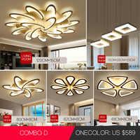 Lustre Led pour salon salle à manger bureau chambre lampe lumière créative moderne simple décoration