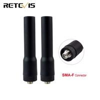 מכשיר הקשר 2pcs Retevis RT20 VHF UHF אנטנה SMA-F עבור Baofeng UV-5R Retevis H777 עבור Kenwood מכשיר הקשר Ham Radio C9004A (1)