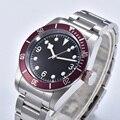Reloj de pulsera para hombre, marca de lujo, reloj mecánico automático, reloj de natación deportivo militar, reloj mecánico de acero inoxidable, N-011 para hombre