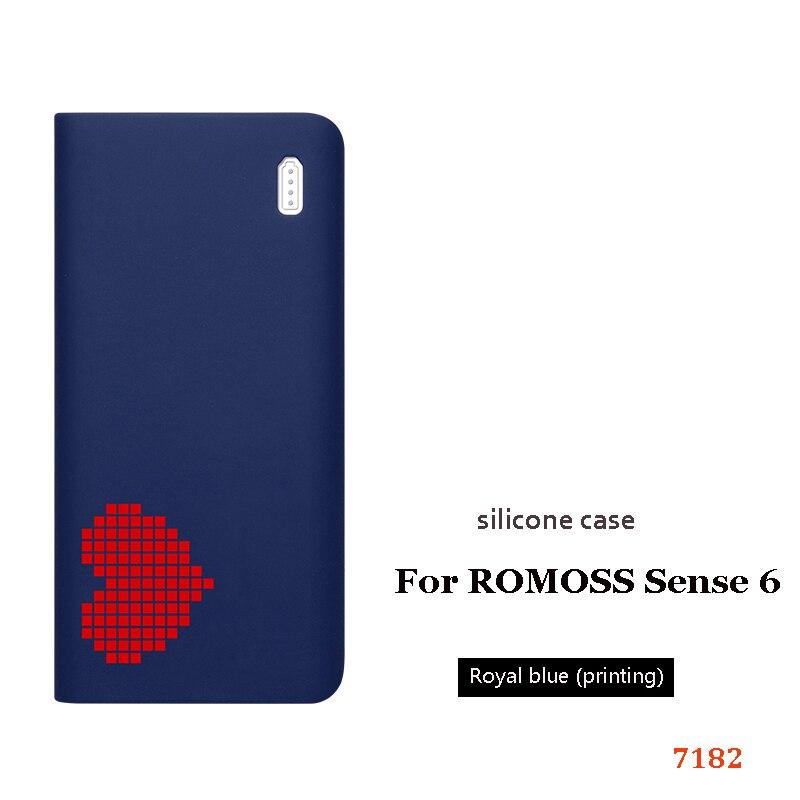Силиконовый чехол для romoss sense 6, 20000 мА/ч, мобильный, мощный, мягкий, силиконовый, анти-столкновения, противоскользящий чехол, мобильный, мощный, кожаный чехол - Цвет: 10