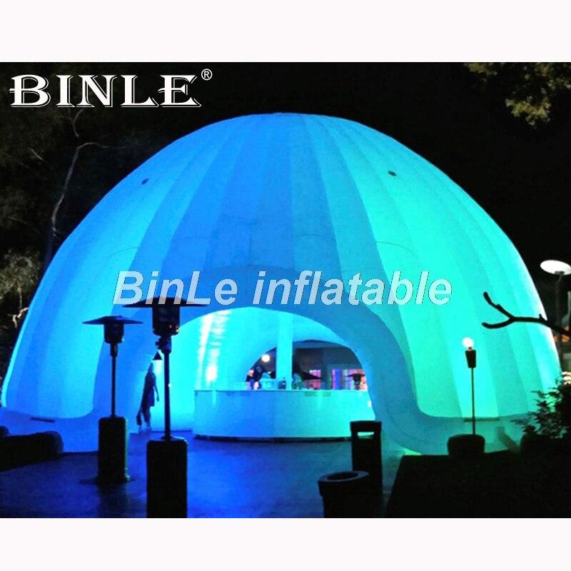 Carpa inflable de aire blanca personalizada con iluminación led carpa de circo Carpa Gigante de boda carpa de fiesta iglú para eventos