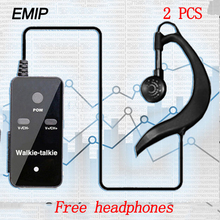 (2 PCS)EMIP  MINI Walkie Talkie Portable VHF Handheld Ham Ultra small Radio Communicator HF Transceiver with Earpiece