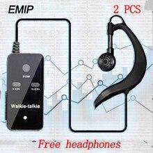 (2 PCS) EMIP MINI Walkie Talkie แบบพกพา VHF แบบใช้มือถือขนาดเล็กวิทยุ Communicator HF Transceiver พร้อมหูฟัง