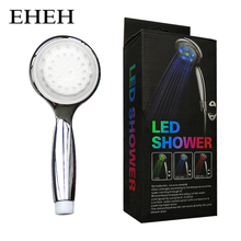 EHEH 3 Colors LED Handheld Shower Head Temperature Control Watering Can with Colorful Box Hot sales Bathroom showerhead