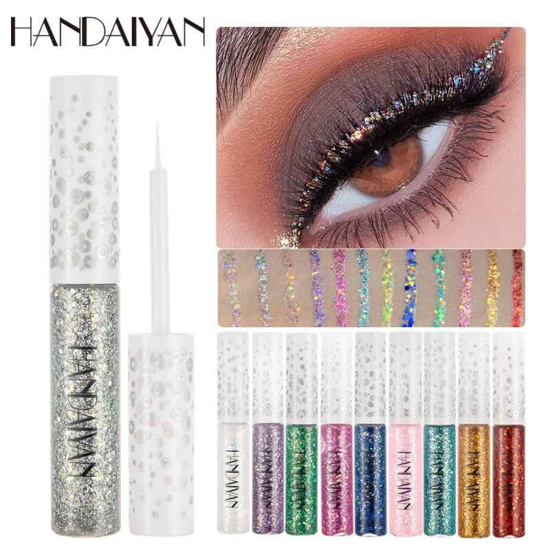 1 PC Handaiyan 12 Warna Cair Glitter Eyeshadow Pensil Mata Makeup Glitter Shimmer Eye Shadow Tahan Air Tahan Lama TSLM1
