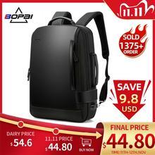 BOPAI sac à dos à lépaule 15.6 pouces pour hommes, grande taille, Charge externe USB, Anti vol, étanche, cartable de voyage