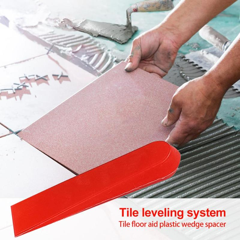 100pcs Tile Leveling System Wedges Masonry Tile Spacers  Wear-resisting Withstand Voltage Alignment System Locator Spacers Level