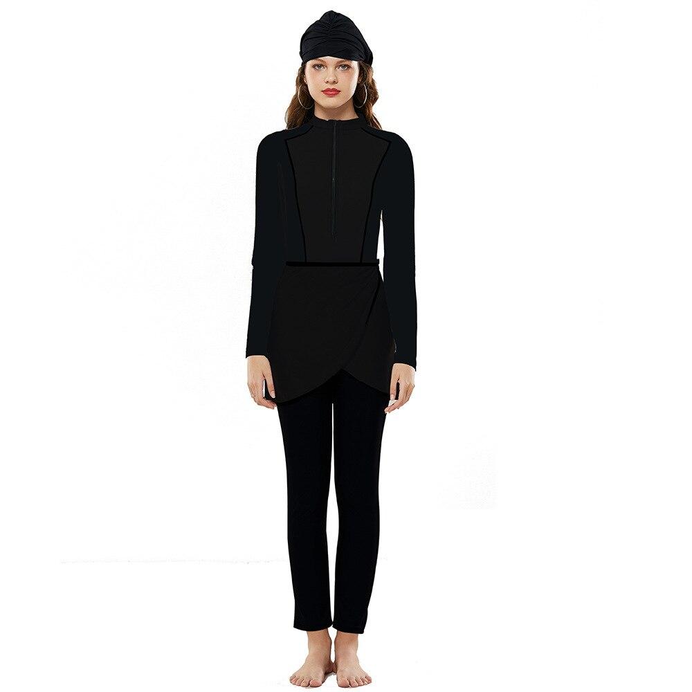 2020 Desain Baru Warna Muslim Baju Renang Islam Sederhana Baju Renang Burkini Wanita Pakaian Renang Dengan Hijab Plus Ukuran Pakaian Renang Muslim Aliexpress