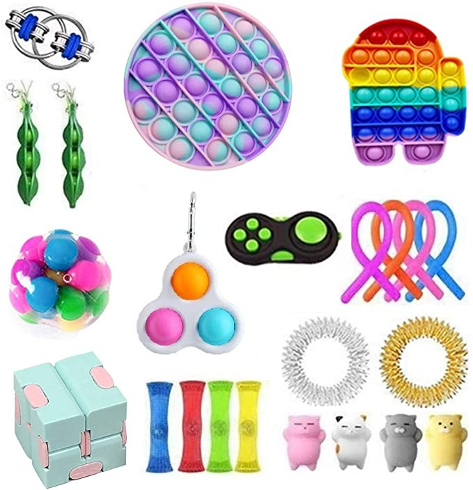Antistress Fidget Toys Push Bubble Popit Squeeze Sensory Stress Reliever Autism Needs Adult Anxiety Focus Educational Toy Kids