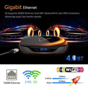 Image 3 - 2020 VONTAR X3 4GB RAM 128GB ROM 8K אנדרואיד חכם טלוויזיה תיבת אנדרואיד 9.0 TVBOX Amlogic S905X3 2.4G 5G Wifi 4K ממיר 64GB 32GB