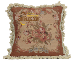 Car Seat Cushion Embroidered Decorative Pillow Covers Cushion woolen aubusson Seat Cushions For Chairs