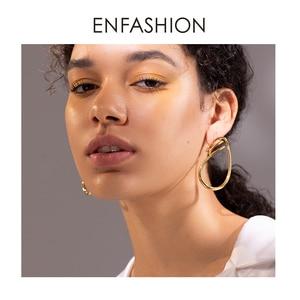 Image 5 - ENFASHION 불규칙한 곡선 라인 드롭 귀걸이 여성을위한 골드 컬러 단순 매달아 귀걸이 패션 주얼리 Dropshippping E191143
