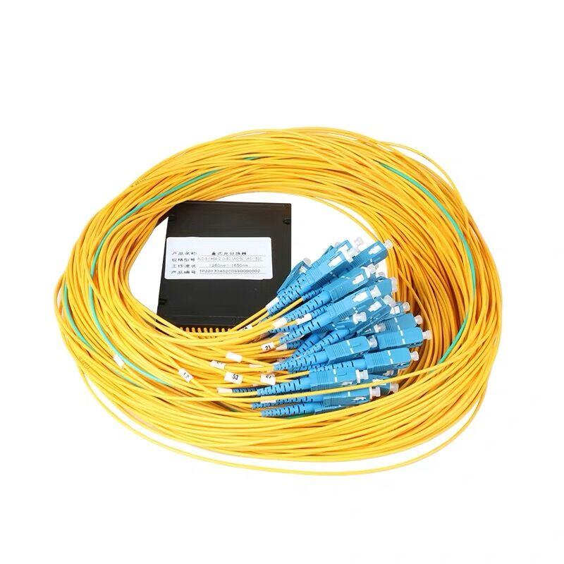 Free Shipping SC / UPC 1x64 Fiber plc splitter Fiber Optic Splitter Single mode SC / UPC 1x64 plc splitter FBT Optical Couple