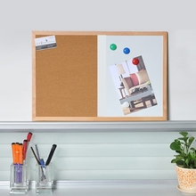 Message Cork Board Wood Frame Whiteboard Drawing Combination Magnetic Boards