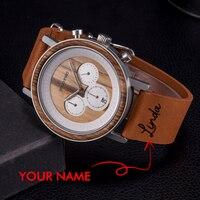 BOBO ptak парные часы drewniany zegarek mężczyźni spersonalizowana nazwa Logo kobiety kwarcowe zegarki walentynki prezent na rocznicę dla niego