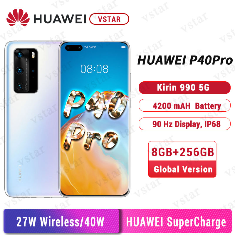 Global Version Huawei P40 Pro 5G SmartPhone 6.58 inch Kirin 990 5G Octa Core Android 10 SA/NSA in Screen Gesture Sensor 40W|Cellphones| - AliExpress