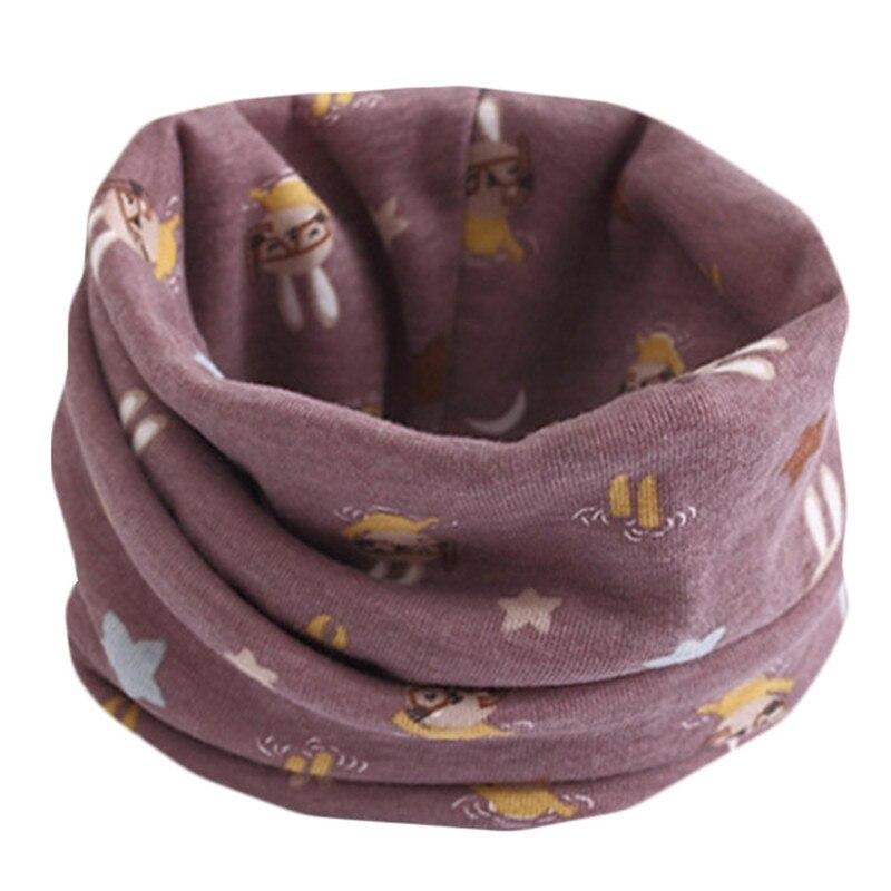 Весенне-осенне-зимний детский хлопковый шарф для От 0 до 10 лет, Детские шарфы с героями мультфильмов, модный теплый воротник - Цвет: 10