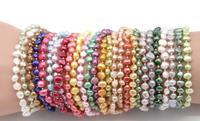 Factory Price Pearls Bracelet Nugget pearls stretch bracelets 26 colors natural freshwater pearls braclet on sale best gift N113