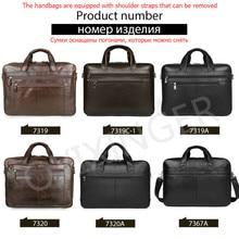 High Quality Genuine Leather Men Handbag Work Laptop Bag Large Capacity Travel Men's Luxury Computer Bags 17″ Male Bolso Hombre